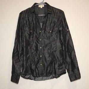 Cloth & Stone Dark Gray Button Down Shirt